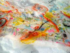 Painting on snow