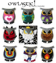 Owls Brooches ~ You could totally make these!