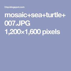 mosaic+sea+turtle+007.JPG 1,200×1,600 pixels