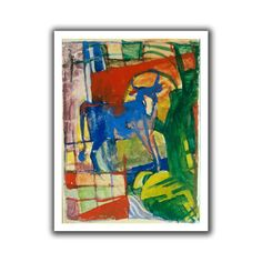 'Blue Cow' by Franz Marc Canvas Poster