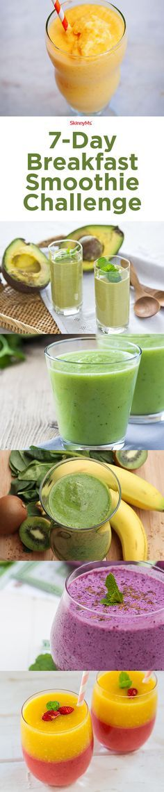 Start this 7-Day Breakfast Smoothie Challenge today!