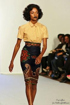 Love the silhoutte, pattern & style  image: African Fashion
