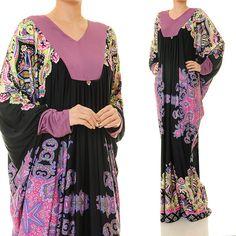 Ethnic Dubai Kaftan Jersey Long Sleeves Abaya by Tailored2Modesty