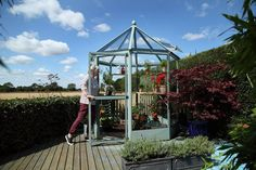 Rhino Diamond Greenhouse was designed by Colin Spooner. Too bad they're in the UK, not sure if you could get one here in Denver...  http://www.greenhousesdirect.co.uk/Diamond