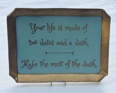 SOLD but can be made to order  Your Life by BelleMaisonMarket