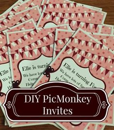 DIY Invites using Picmonkey // Tutorial for creating custom invitations that look professionally designed.