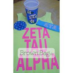 Order this Zeta Tau Alpha Bid Day package today! Bid Day Gifts, Zeta Tau Alpha, Brown Bags, Online Gifts, Sorority, Packaging, Paper Bags, Wrapping