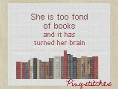 Literary Cross Stitch - book quotes