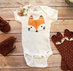 Fox Onesie®, Boho Baby Clothes, Baby Shower Gift, Baby Boy Clothes, Boho Baby Bodysuit, Fox Baby Clothes, Bohemian Baby, Tribal Baby Clothes by BittyandBoho on Etsy https://www.etsy.com/listing/271462254/fox-onesie-boho-baby-clothes-baby-shower