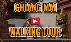 Old Town Free Chiang Mai Walking Tour Map - Thailand