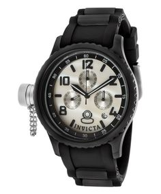 Look at this Invicta Black & White Mother-of-Pearl Chronograph Diver Watch on #zulily today!