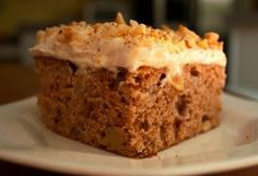 Fresh Pear & Apple Cake with Maple Cinnamon Cream Cheese Frosting