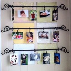 Curtain rod pictures - nice idea and easy to change out
