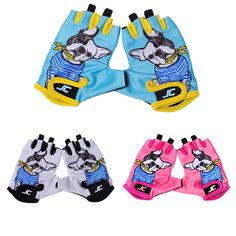 FIRELION Children Sports Outdoor Half Finger Cycling Gloves cute Breathable  MTB bicycle Gloves kids Non-Slip Road Bike Riding. aafdd726b