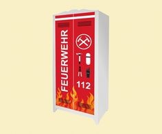 Feuerwehr KInderzimmer: Feuerwehr Aufkleber für den Kinderschrank HENSVIK von IKEA