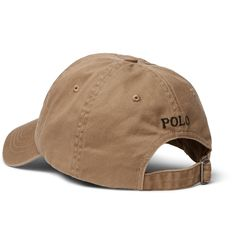 <a href='http://www.mrporter.com/mens/Designers/Polo_Ralph_Lauren'>Polo Ralph Lauren</a>'s baseball cap is a timeless sporty essential. Made from soft cotton-twill, it's embroidered with the brand's iconic logo and has aerating eyelets. The adjustable tab and internal browband ensure the most comfortable fit. Pair it with one of the US label's classic polo shirts.