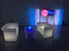 LED sofa, plinths and columns adding great light to this event #led #eventprofs #events #london