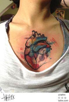 Victor Octaviano - Heart at Heart's Center - http://tattrx.com/artists/victor-octaviano