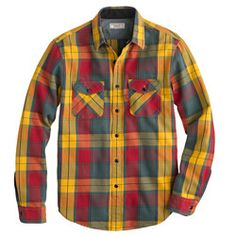 Wallace & Barnes heavyweight flannel shirt in heron grey plaid...I love the colors