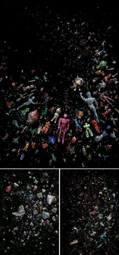 Photographer Mandy Barker transforms plastic debris collected from beaches in Hong Kong into stunning images.