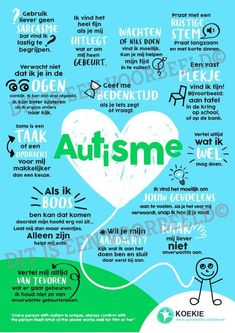 KOEKIE Autisme Poster verkrijgbaar in (poster) en (uitdeelkaarten)! Social Work, Social Skills, Kids Education, Special Education, Joelle, Adhd And Autism, Stress, Yoga For Kids, Sensory Activities
