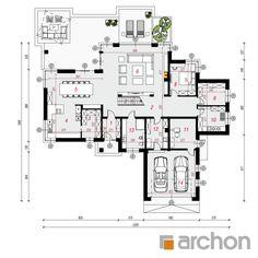 Projekt domu Willa Weronika 4 - ARCHON+ Ua, Planer, Craftsman, Floor Plans, House Design, Flooring, How To Plan, Deco, Simple