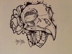 Bird Skull. I LOVE THIS!!
