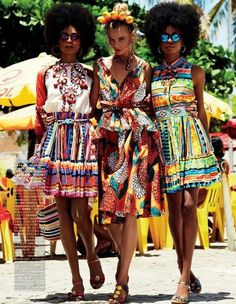 #african #fashion during #summer ~~~ I LOVE IT! Boho. Bohemian. Tropical