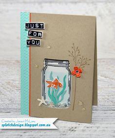 Splotch Design - Jacquii McLeay Independent Stampin' Up! Demonstrator: Jar of Love Shaker Card http://amzn.to/2tGTF0k