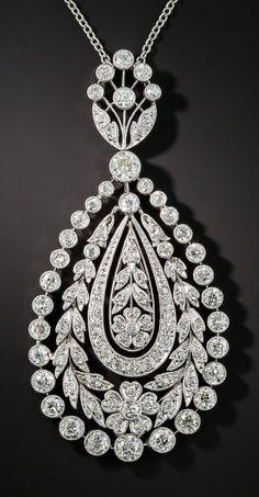 Diamond Jewelry An Edwardian platinum and diamond pendant, circa Art Deco Jewelry, Modern Jewelry, Fine Jewelry, Jewelry Design, Edwardian Jewelry, Antique Jewelry, Vintage Jewelry, Diamond Pendant Necklace, Diamond Jewelry