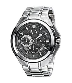 d256c725f7c The Armani AX Exchange Miami Chronograph Black Dial Stainless Steel Mens  Watch is a stunning and dazzling timepiece with superb construction.