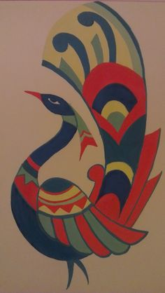 peacock madhubani paintings - Google Search