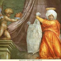 Pontormo. Saint Veronica. Detail. 1515. Fresco. 307 x 413 cm. Santa Maria Novella, Cappella pontificale, Florence, Italy