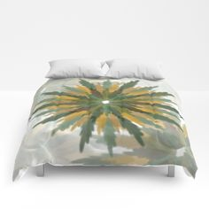 Leafy Wreaths Comforters by weivy Pattern Flower, Face Towel, Presents For Friends, Blanket Cover, Good Cause, Wooden Shelves, Optical Illusions, Hand Towels, Comforters