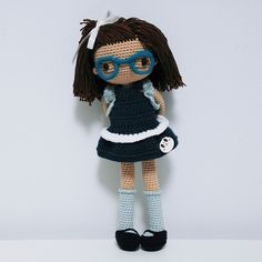 Muñeca amigurumi. Patrón: La Crocheteria