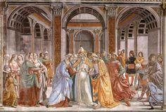 DOMENICO GHIRLANDAIO (1449 - 1494)   Marriage of Mary - 1486/90. Fresco   Cappella Tornabuoni, Santa Maria Novella, Florence.