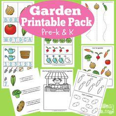 Garden Printables for Kids - Free Printables for Preschool and Kindergarten