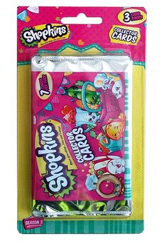 Shopkins Series 3: 3-Pack Blister: Shopkins™ return cuter and sweeter than ever! Shopkins™ Series 3 Collectible Card range is coming your way with all new characters.