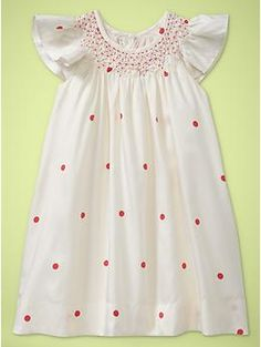 too cute - reminds me of the smocked dresses my grandma used to make for my sister and i