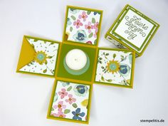 Geschenke für Frauen - Explosionsbox Feiere deinen Tag Geldgeschenk - ein Designerstück von Stempelitis bei DaWanda