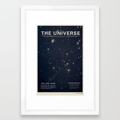 THE UNIVERSE - Space   Time   Stars   Galaxies   Science   Planets   Past   Love   Design Framed Art Print