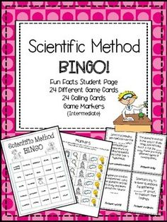 {FOLLOW ME on TpT for future freebies!}  Your students will LOVE playing BINGO while reinforcing the SCIENTIFIC METHOD! Great content!!!