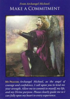 """Make a Commitment,"" from the Archangel Michael Oracle Cards by Doreen Virtue. Published by Hay House. Artwork by Howard David Johnson. https://lifeofhimm.wordpress.com/2016/01/28/divining-with-the-angels/"