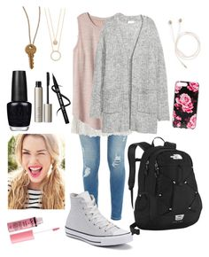 Spring 🌸 by sapienzasophie on Polyvore featuring polyvore, fashion, style, Sans Souci, Gap, Ted Baker, Converse, The North Face, Kate Spade, The Giving Keys, Ilia, Charlotte Russe, OPI and clothing