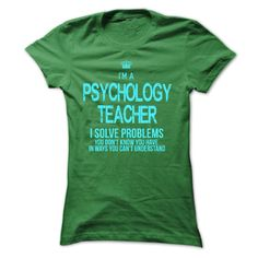 Wear this cool T-shirt and tell the world that you are Psychology Teacher. Everybody must wear this Designer: xurijob Price: 19$