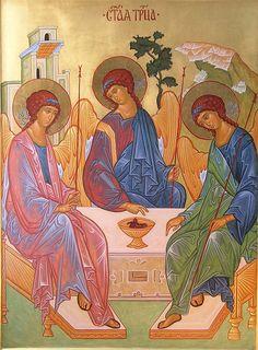 Icona della Santissima Trinità scritta da Maria Grazia Facchin