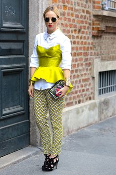 Неделя моды в Милане S/S 2015: street style. Часть III (фото 7)