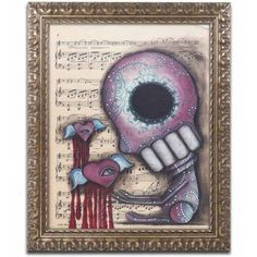 Trademark Fine Art 'Melting Hearts' Canvas Art by Abril Andrade, Gold Ornate Frame, Size: 11 x 14, Assorted