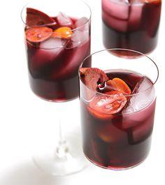 Pomegranate Sangria with Kumquats. Pomegranate sangria with kumquats Spiked Punch Recipes, Summer Punch Recipes, Sangria Recipes, Drink Recipes, Summer Sangria, Refreshing Summer Cocktails, Summer Drinks, Cocktail Drinks, Sweet Wine