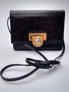 GIANNI VERSACE Vintage Black Crock Print by Sophiashop123 24d9f7d4609c6